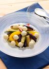 ひとくちモッツァと揚げ野菜のサラダ