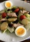 ワンプレート朝食  鶏肉ソテーのサラダ