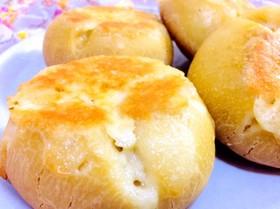 フライパンで作る米粉のチーズパン