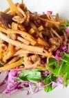 簡単薬膳☆ごぼうと生野菜の黒酢サラダ