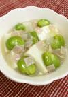 旬を食べよう☆そら豆と玉葱のあんかけ豆腐