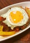 鮭うま煮と季節野菜のラタトゥイユ丼