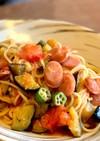 夏野菜のスパゲティ