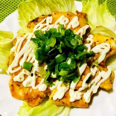 簡単節約♪鶏胸肉生姜風味甘辛マヨチキン