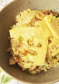 中華風筍炊き込みご飯ごはん