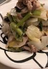 豚こまと余り野菜の塩とろみ炒め