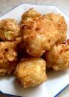 玉ねぎとツナ 豆腐の揚げシューマイ