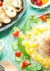タイと新玉ねぎのオレンジカルパッチョ