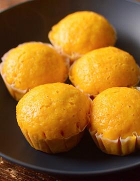 人参たっぷり!小麦粉で作れる簡単蒸しパン