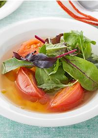 トマトとベビーリーフのサラダスープ