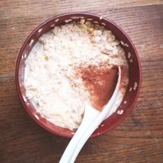 砂糖不使用☆すりリンゴのオートミール