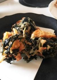 長芋とワカメの天ぷら