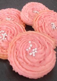 バラの絞り出しクッキー