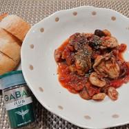 牡蠣とシーフードのトマト煮込み