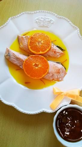 キスマイ横尾くん誕生日☆鮭のオレンジ風味