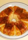 フライパンでパン 焦がしベーコン包みパン