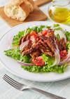 大豆のお肉でボリュームサラダ