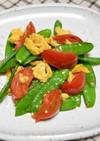 フルーツトマトときぬさやのふわふわ卵炒め