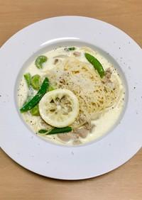 レモンクリームパスタ