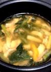 簡単★サラダチキンの味噌スープ