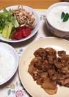 豚肉と玉ねぎの生姜炒め