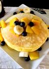 朝から栄養満点ふわふわのパンケーキ