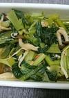 小松菜としめじとカニカマの煮浸し
