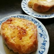 フランスパンのフレンチトースト。