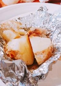 醤油バター味のじゃがいもアルミホイル焼き
