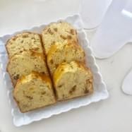 オレンジピールとバナナのパウンドケーキ