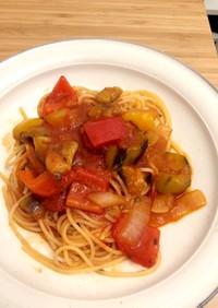 カリッと鶏モモのトマトソース煮込み