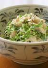 鶏むね肉と豆苗の梅マヨポンサラダ