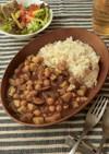 たっぷりひよこ豆とナスのカレー