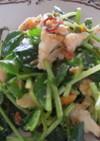 豆苗とサラダチキンのピリ辛サラダ