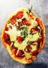 水菜とトマトのシンプルピザ★☆