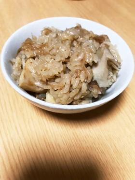 なめ茸と筍と舞茸の炊き込みご飯