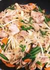 豚肉、ニンニクの芽と野菜炒め