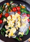 野菜と卵春雨の肉なし中華炒め