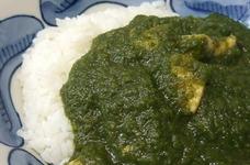 インド料理店のほうれん草カレー