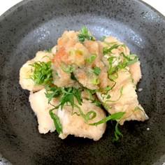 鶏ササミの梅おろしソース