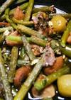 ニンニクの芽とマッシュルームのアヒージョ