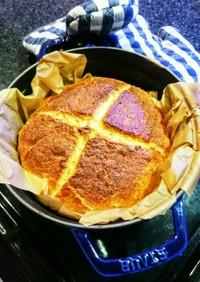 捏ねない!ストウブで焼く米粉パン