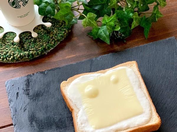 簡単に出来るチーズケーキ風トースト