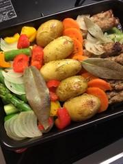 野菜とソーセージのグリル*簡単手間いらずの写真