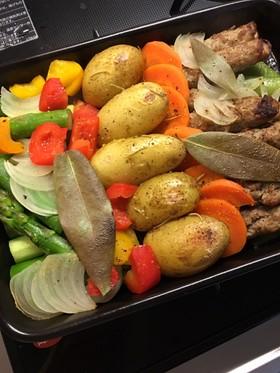 野菜とソーセージのグリル*簡単手間いらず