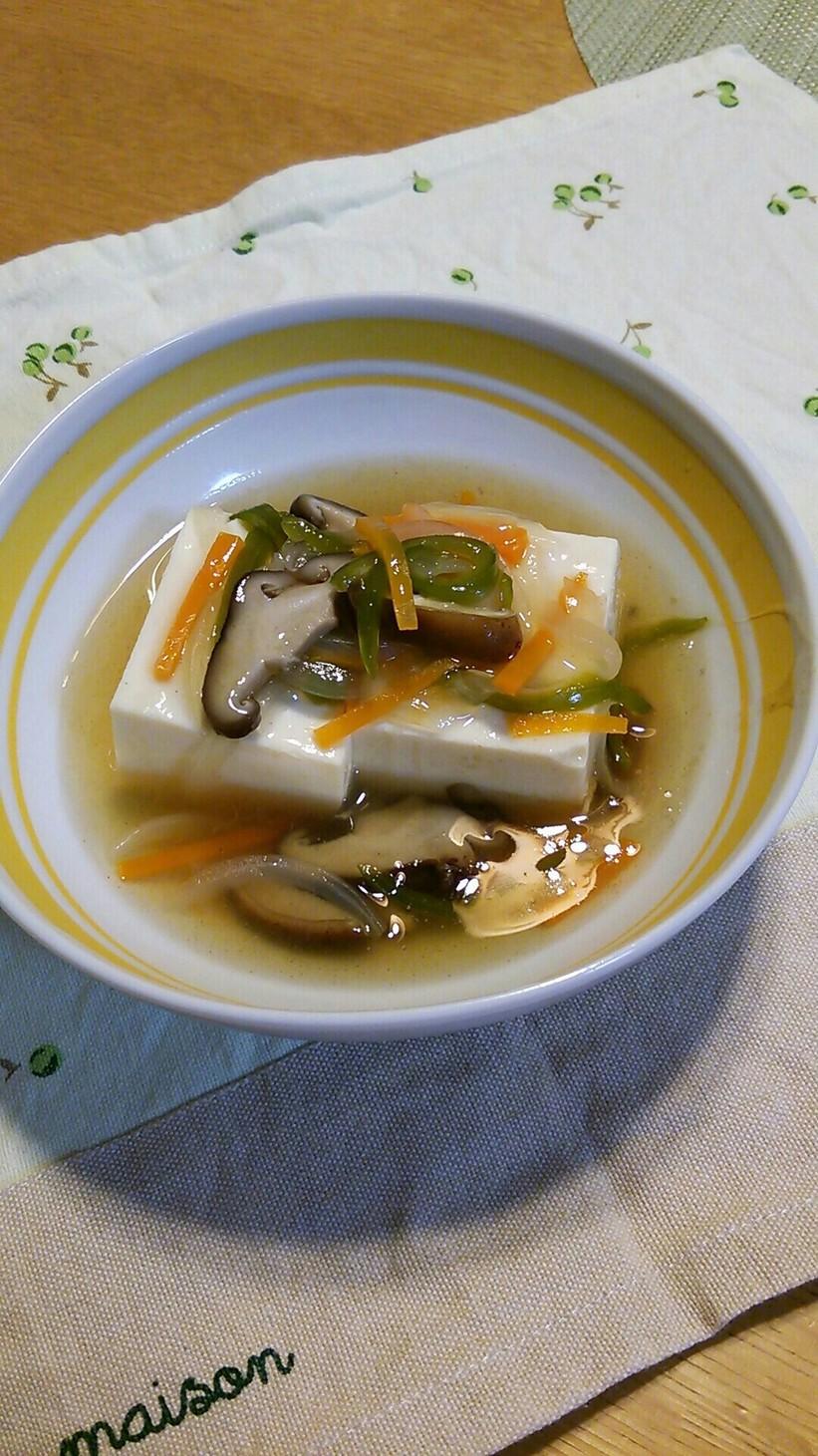 絹ごし豆腐の野菜あんかけ☆やさしい味♪
