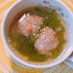 白だしで作る、テールスープ風肉団子スープ