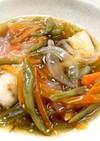 白身魚の野菜たっぷり甘酢あんかけ