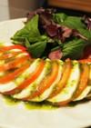 バジルカプレーゼのサラダ