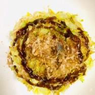 1人分レシピ:キャベツ卵のお好み焼き風